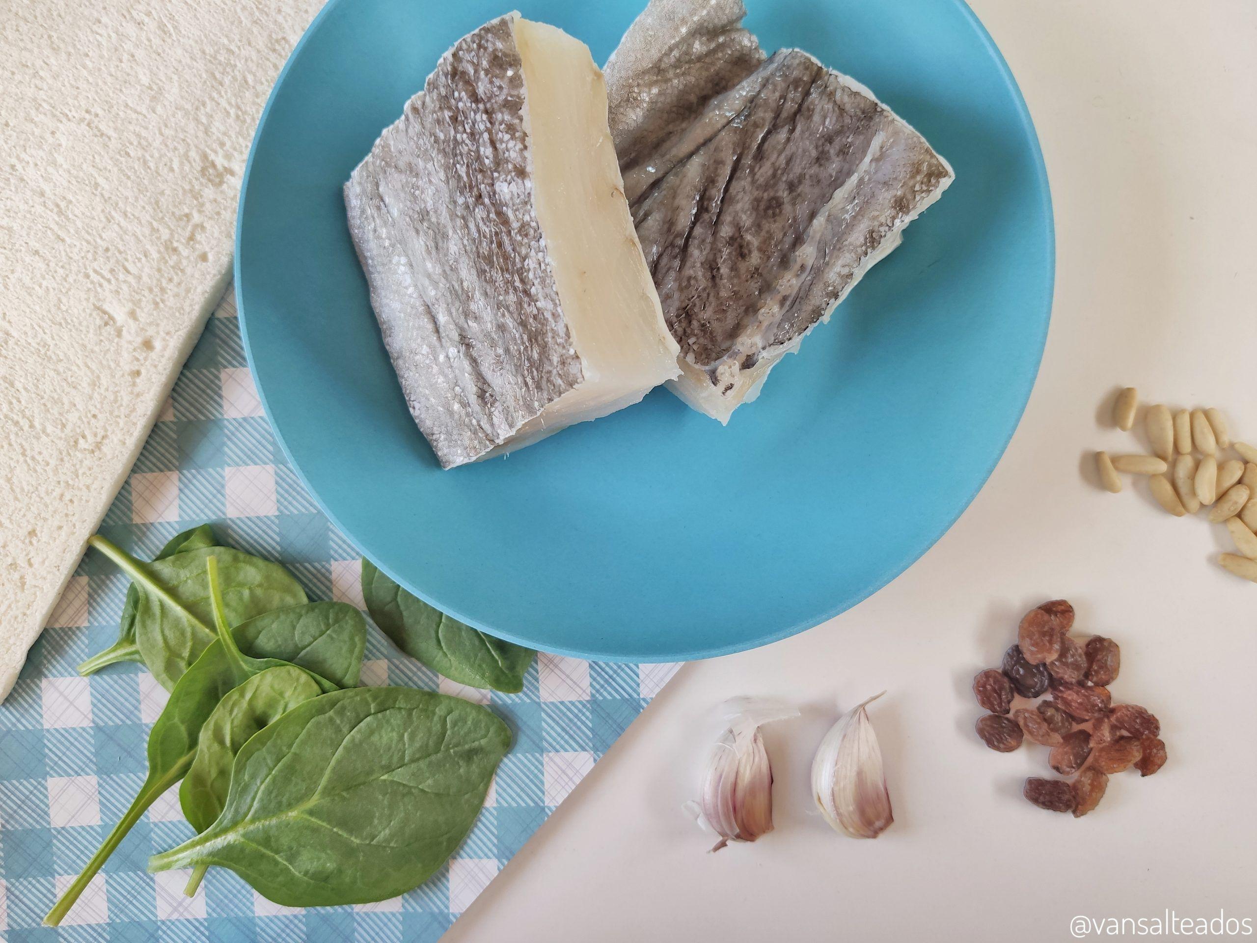 Ingredientes para el sandwich de pescado