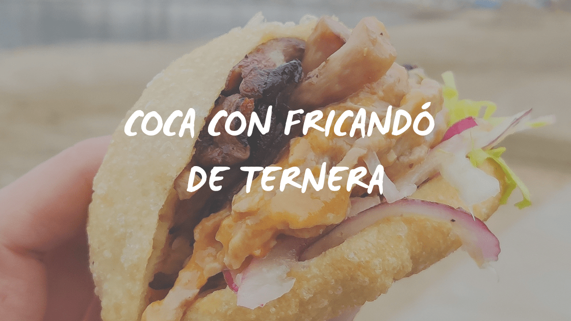 RECETA DE COCA CON FRICANDO DE TERNERA
