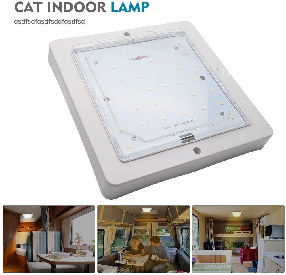 lampara LED cuadrada para autocaravana y uso