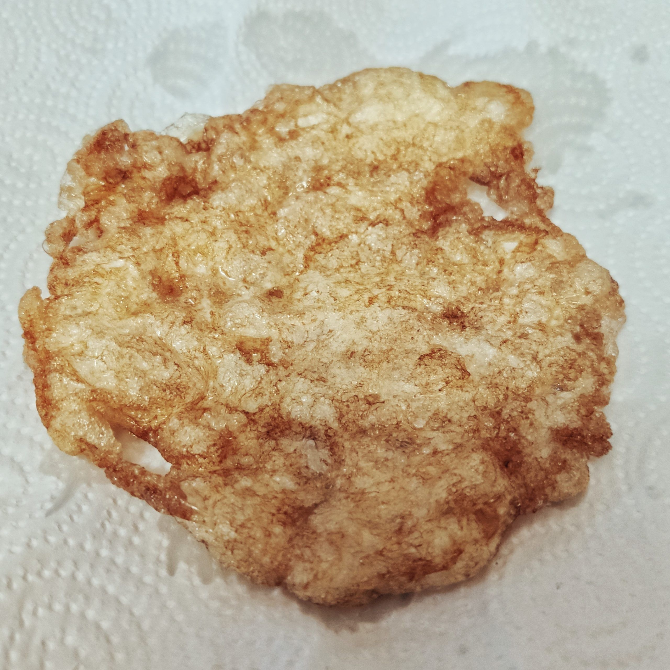 Clara de huevo frita