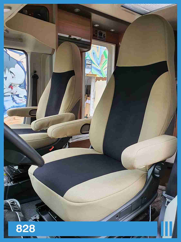 funda-asientos-autocaravanas beige negro autocaravana