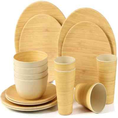 vajilla bambú furgo camper